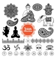 Hand Drawn India Design Elements Set vector image