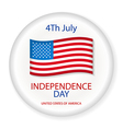 Independence day American signs hanging with chain vector image