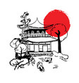 japanese painting vector image