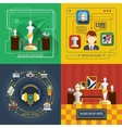 Museum Icon Composition Set vector image
