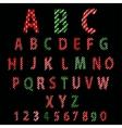 Polka Dot Alphabet Red alphabet design in white vector image