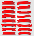 Red ribbons and banners vector image
