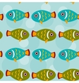 Seamless pattern with funny cute fish animal on a vector image