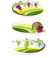 Winemaking emblems vector image