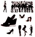 Girls sillhouette vector image