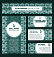 corporate identity design with abstract pattern vector image