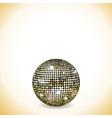 reflective disco ball vector image vector image