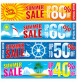summer shopping banners set hot price vector image vector image