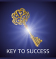 key to success background vector image