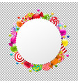 candy shop banner vector image