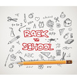 Back to school - set of school doodle vector image vector image