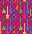 Kitchen accessories ink hand drawn seamless vector image