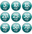 Shopping Sale Discount Badge in Teal vector image