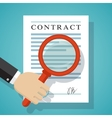 Contract inspection concept vector image vector image