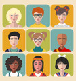 children avatars set of different vector image