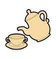 coffee mug icon vector image