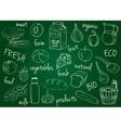 farm products doodles school board vector image