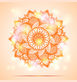 mandala diwali present card design vector image
