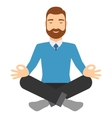 Businessman meditating in lotus pose vector image vector image