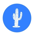 Cactus icon black Singe western icon from the vector image