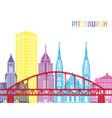 Pittsburgh v2 skyline pop vector image