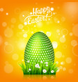 easter egg hunt orange yellow background april vector image