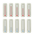 Thermometers with different temperature on them vector image