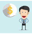cartoon with dollar bubble in flat style vector image