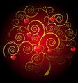 valentine gold tree vector image