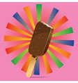 Chocolate Ice Cream Background4 vector image vector image