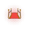 Red carpet comics icon vector image