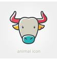 Spanish bull buffalo flat icon Animal head vector image