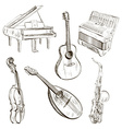 Sketch of Musical Instruments vector image