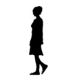 a silhouette of a girl walking through the city vector image