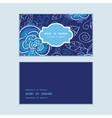 blue night flowers horizontal frame pattern vector image