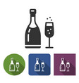 champagne icon in different variants with vector image