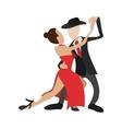 Couple dancing tango cartoon icon vector image