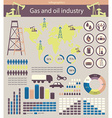gas and oil industry vector image