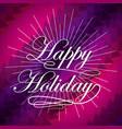 happy merry christmas snowflake background vector image