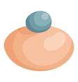 Makeup powder icon cartoon style vector image