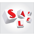 Sign 3D Box vector image