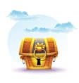treasure chest on a background of clouds vector image