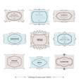 Vintage frames set isolated on white vector image
