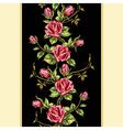 rose pattern on black vertical vector image