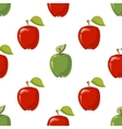 Red and green apples seamless pattern vector image