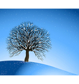Winter Landscape Lonely Tree vector image vector image