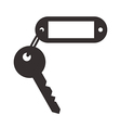 Blank tag and key vector image