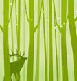 Deer in Forest Green vector image