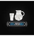 milk glass poly design background vector image