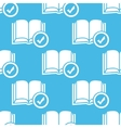 Blue selected book pattern vector image
